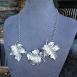 Beautiful sterling silver leaves perfect for that year-round statement necklace you been looking for - only one available!