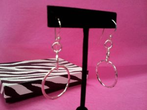 "Beautiful Sterling Silver Earrings made in our Beginner Soldering Class ""Kitchen Table Soldering"" with Karen Dingo"
