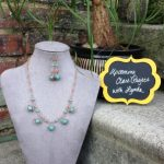 """Oh Chain Drops"" Wrapped Wire Necklace & Earrings"