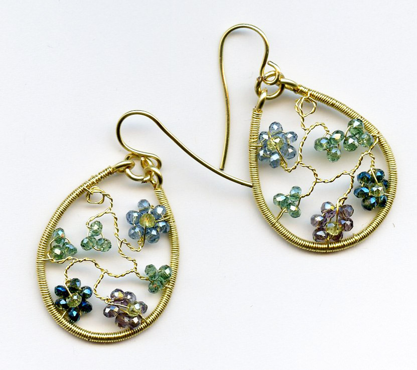 Twisted Wire Floral Earrings/Sweetheart Pendant with Melody ...
